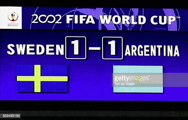Sweden Argentina Final score on the scoreboard | Location Miyagi Japan