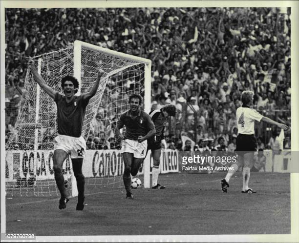 Soccer World Cup Final Italy vs W.Germany - Italian Paolo Rossi scores the winning goal for Italy to take over the World Cup 82. July 11, 1982. .