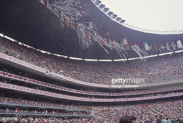 Soccer World Cup final View of fans at Estadio Azteca stadium during game ARG vs FRG game Mexico City MEX 6/29/1986