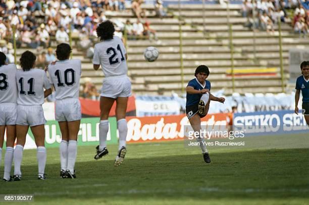 Argentina vs Uruguay Argentina won 10 Diego Maradona | Location Puebla Argentina