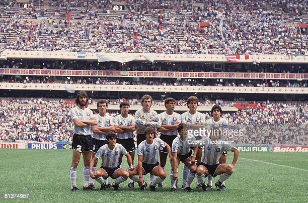 Soccer World Cup Portrait of Team ARG before game MEX 5/31/19866/29/1986