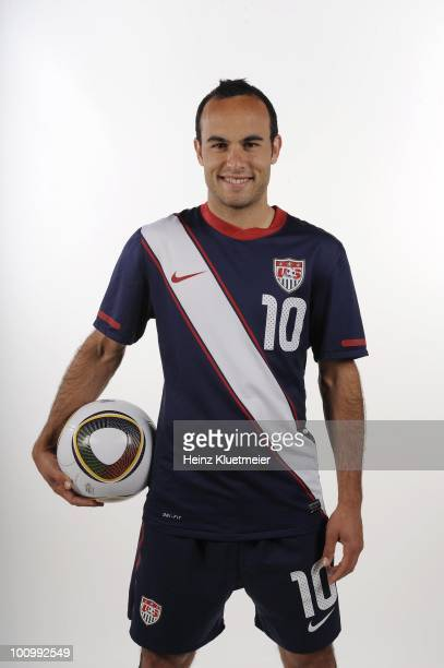 World Cup Preview Portrait of US Men's National Team forward Landon Donovan during photo shoot at Home Depot Center Carson CA 4/26/2010 CREDIT Heinz...