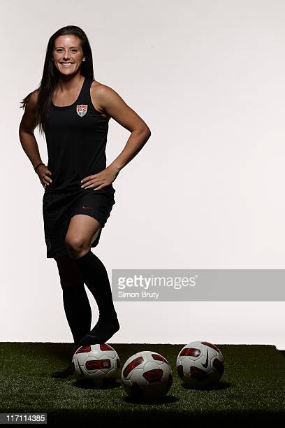 World Cup Preview Portrait of US Women's National Team defender Ali Krieger during photo shoot at Westin Newport Hotel Jersey City NJ CREDIT Simon...