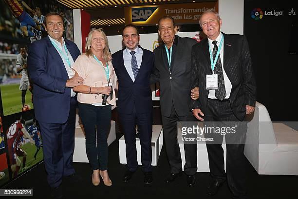 CEO Soccerex Duncan Revie Prince of Jordan Ali Bin al Hussein Former brazilian football player Carlos Alberto Torres and Chairman Soccerex Tony...