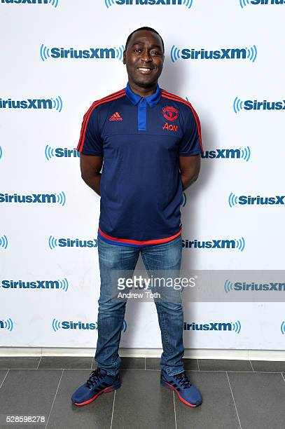 Soccer/football player Andy Cole visit SiriusXM on May 06 2016 in New York New York