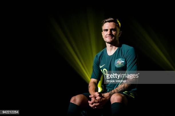 Socceroo Josh Risdon during the Nike Football Australian National Team Kit Launch on April 5 2018 in Sydney Australia