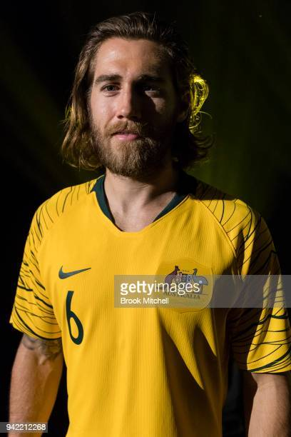 Socceroo Joshua Brillante during the Nike Football: Australian National Team Kit Launch on April 5, 2018 in Sydney, Australia.