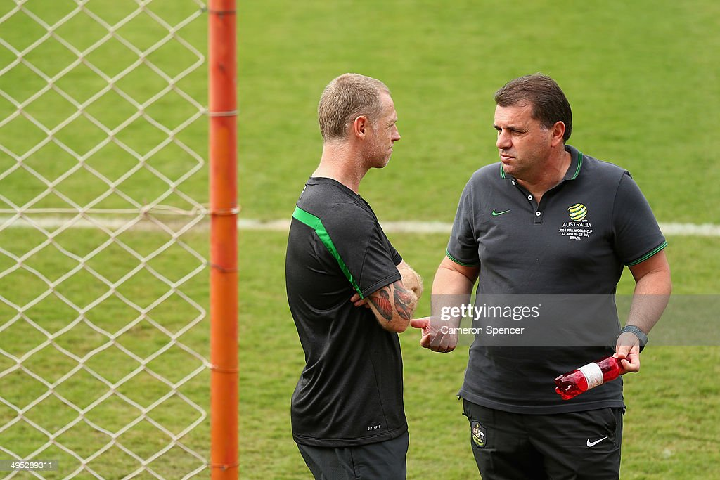 Australia Training And Practice Match - 2014 FIFA World Cup Brazil