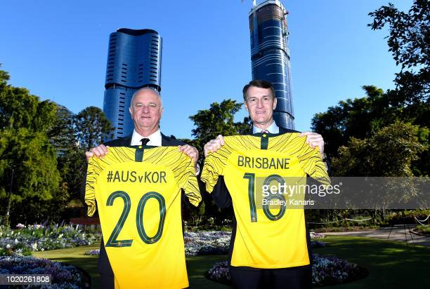 Socceroos Coach Graham Arnold speaks during the announcement that the Socceroos will play against Korea Republic in an international friendly match...