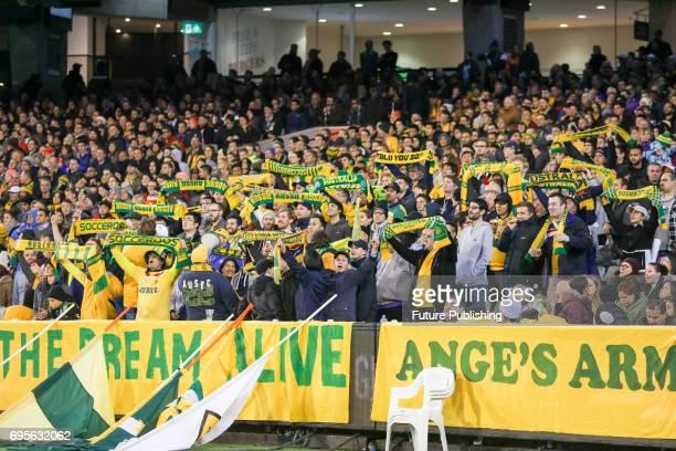 Socceroos fans as Brazil plays Australia in the Chevrolet Brasil Global Tour 2017 on June 13 2017 in Melbourne Australia Chris Putnam / Barcroft...