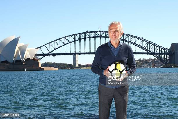 Socceroos Head Coach Bert van Marwijk poses after the Australian Socceroos World Cup Preliminary Squad Announcement at Lady Macquarie's Chair on May...
