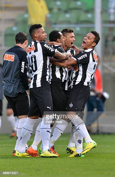 Soccers of Atletico MG celebrates a scored goal against Cruzeiro during a match between between Atletico MG and Cruzeiro as part of Brasileirao...