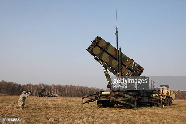 Sochaczew Poland 21st March 2015 US Army Europe's 10th Army Air and Missile Defense Unit deployed to Poland for Missile Defense Exercise Delta...