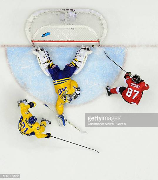 Sochi 2014 Winter Olympic Games: Men's hockey, Gold medal game between Canada and Sweden. 3rd period action.