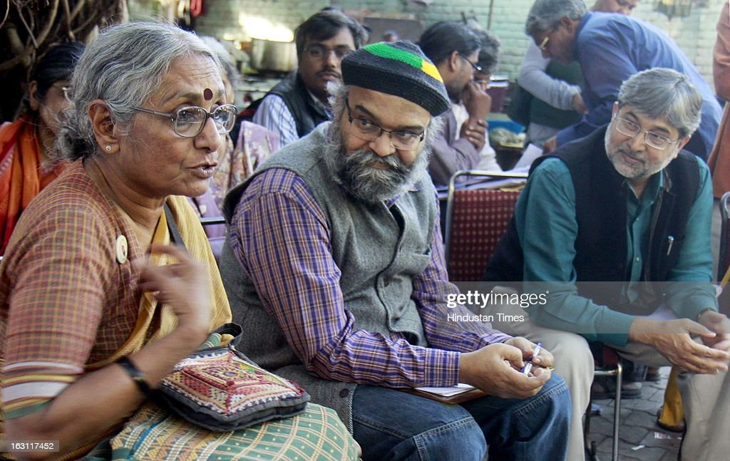 Social Activist Aruna Roy Addressing A Press Conference