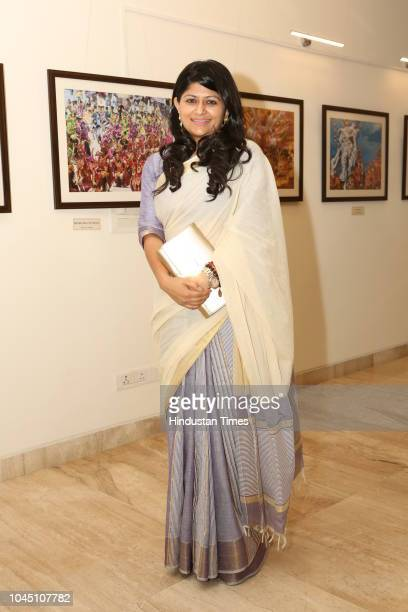 Social activist Parull Mahajan during a photography exhibition 'La Virgen de la Candelaria' at the Art Gallery of Embassy of Peru, Vasant Vihar on...