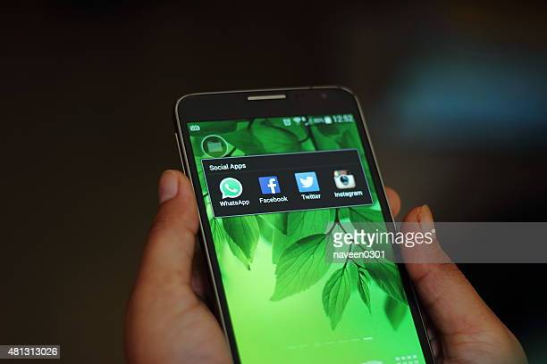Social apps on a smart phone