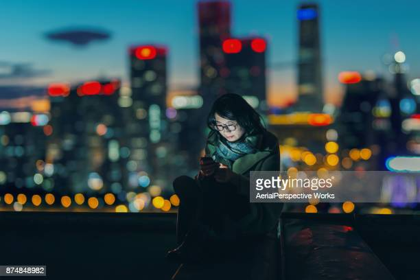 Social Connecting in Urban city at Night