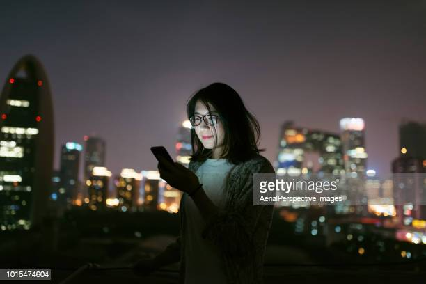 Social Connecting with Smart phone at Night