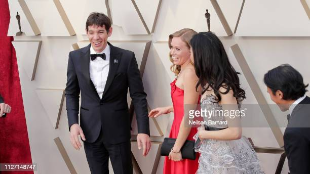 HOLLYWOOD CA FEBRUARY Retransmission with alternate crop Alex Honnold and Elizabeth Chai Vasarhelyi attends the 91st Annual Academy Awards at...