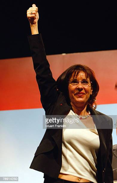 Social democrate Andrea Ypsilanti during a kickoff election campaign event for the SPD in Hesse at the town hall on January 12 2008 in Kassel Germany