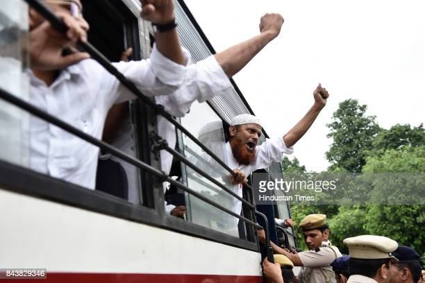 Social Democratic Party of India activists were detained and stopped by police outside the Embassy of Myanmar as they tried to march and protest...