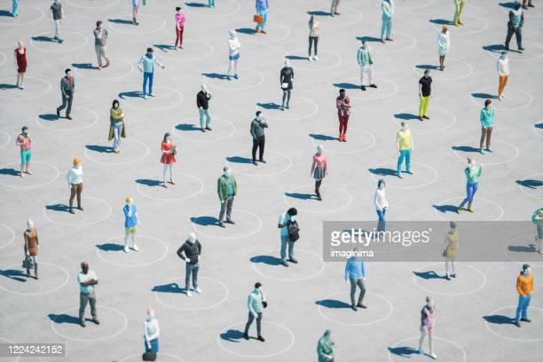 distanciamento social e doença sinfecciosa - distanciamento social - fotografias e filmes do acervo