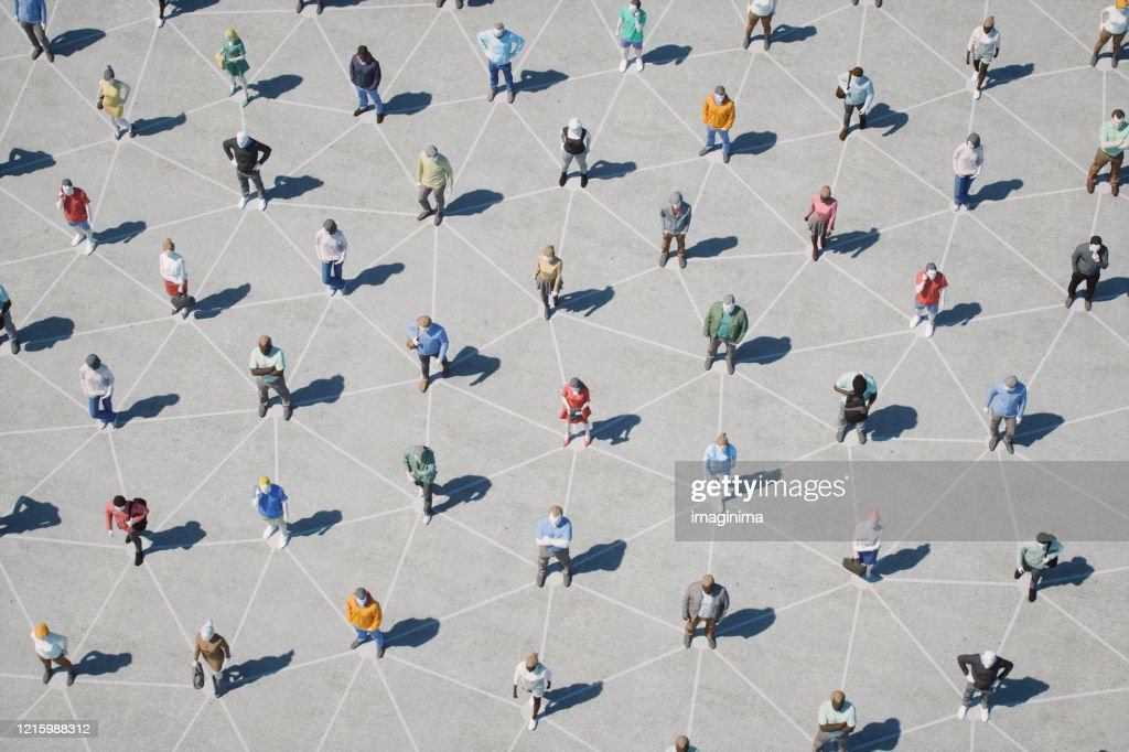Social Distancing And Networking : Stock Photo