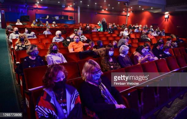 Social distancing audience is seen in the Pavilion theatre ahead of an announcement on changes to the Coronavirus tiers for the Dorset Council area...