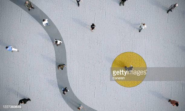 conceito de distanciamento social - individualidade - fotografias e filmes do acervo
