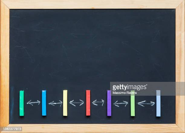 social distancing - blackboard stock pictures, royalty-free photos & images
