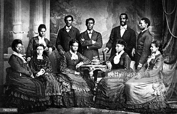 Social History Circa 1900 A group portrait of Jubilee Singers