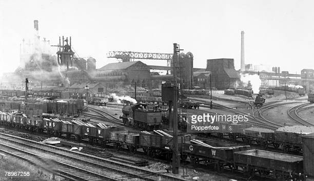 1930's Corby Northamptonshire England Corby steelworks and rail yards