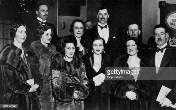 1933 England Northamptonshire Northampton County personalities at a charity event at the Exchange Cinema leftright Lady and Sir Reginald...