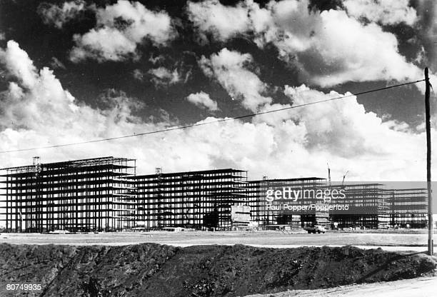 July 1959 South America Brazil Brasilia A housing project under construction in the new Brazilian capital of Brasilia