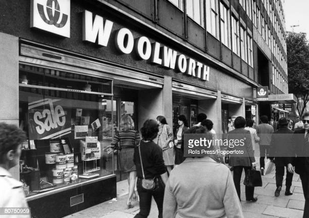 September 1982 The Woolworths store at Holborn London with a 'bustling' scene outside