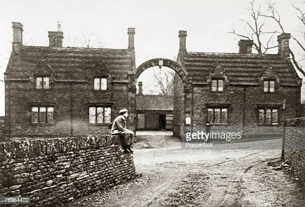 circa 1920's Northampton Northamptonshire England Park Cottages near Abington Park Northampton