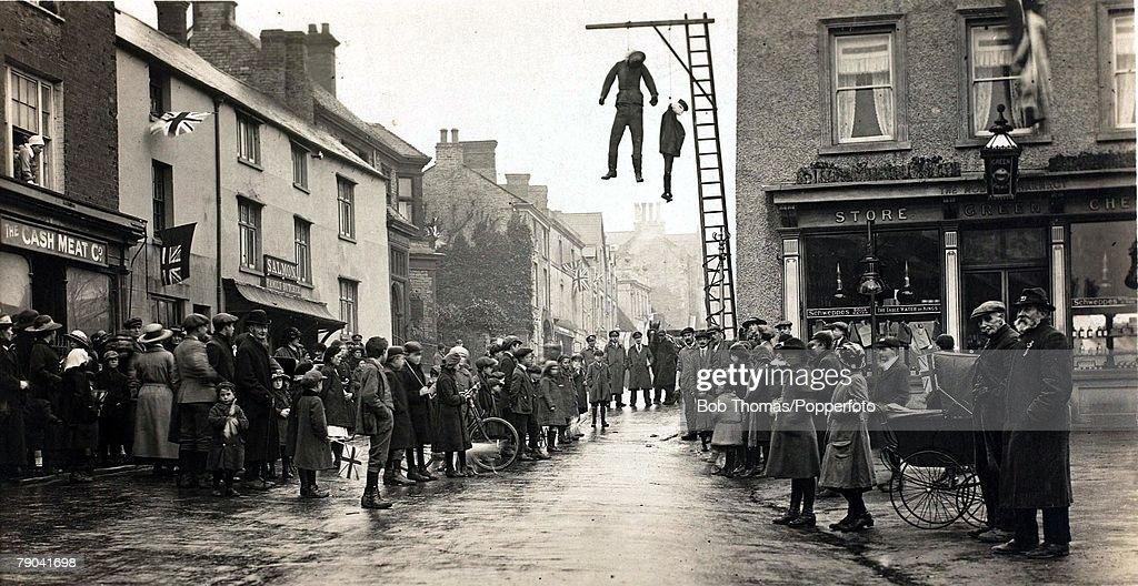 Social History, World War I, England, Effigies of the