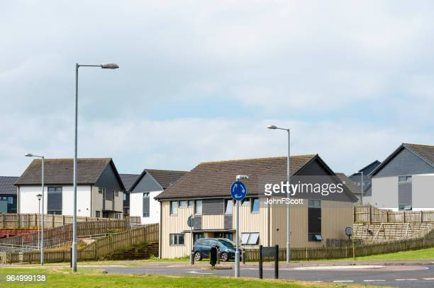 Social housing on the outskirts of a Scottish town