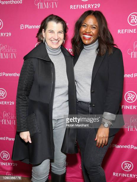 Social Impact Strategist Dawn Laguens and Director of Public Engagement Alencia Johnson for Planned Parenthood attend the Parenthood Federation Of...