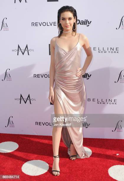 Social influencer Amanda Steele arrives at the Daily Front Row's 3rd Annual Fashion Los Angeles Awards at the Sunset Tower Hotel on April 2 2017 in...