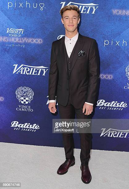 Social influencer Cameron Dallas arrives at Variety's Power Of Young Hollywood at NeueHouse Hollywood on August 16 2016 in Los Angeles California