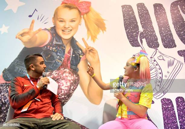 Social Influencer Nickelodeon Star JoJo Siwa at Nickelodeon's booth at 2018 VidCon at Anaheim Convention Center on June 23 2018 in Anaheim California