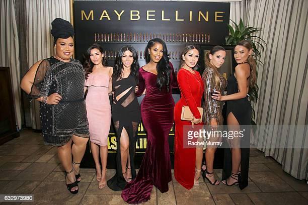 Social influencers Patrick Starr Sazan Hendrix Teni Panosian Shayla Mitchell Karen Gonzalez Katy DeGroot and Desi Perkins attend the Entertainment...