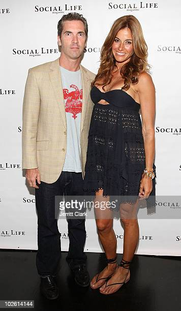 Social Life Magazine publisher Justin Mitchell and Kelly Bensimon attend the social life magazine party at The Social Life Estate on July 3, 2010 in...