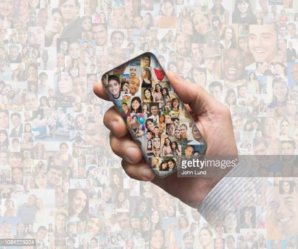 social media access - demography stock pictures, royalty-free photos & images