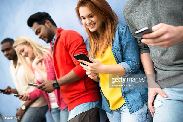 social media addiction people using the smartphone