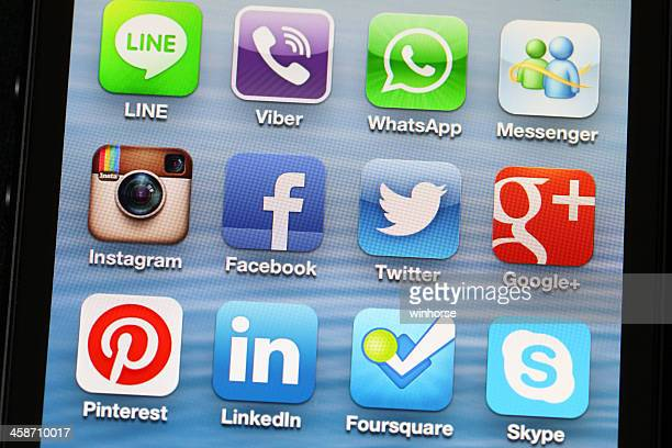 Social Media Applications on iPhone 5