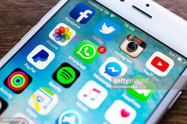 Social Media Applications on Iphone