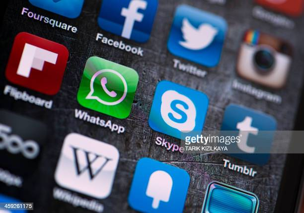 Social Media Apps on Apple iPhone